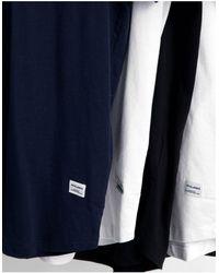 Jack & Jones - Набор Из 5 Удлиненных Футболок Белого, Темно-синего И Черного Цветов С Асимметричным Краем Originals-многоцветный - Lyst