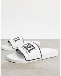DIESEL Белые Шлепанцы С Логотипом -белый - Многоцветный