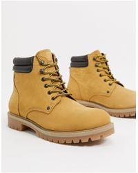Jack & Jones Светло-коричневые Ботинки Из Нубука -коричневый - Многоцветный