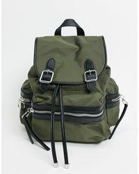 TOPSHOP Nylon Backpack - Green