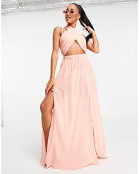 ASOS - Cross Neck Halter Beach Dress - Lyst