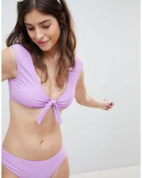 Vero Moda Бикини-топ С Завязкой -фиолетовый Цвет - Пурпурный