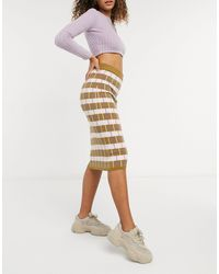 Y.A.S Knitted Bodycon Skirt Co-ord - Multicolour