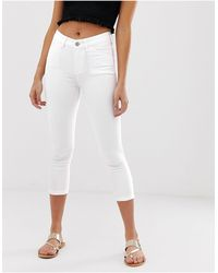Oasis Pantalones blancos capri