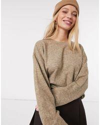 Vero Moda - Maglione squadrato color cammello - Lyst