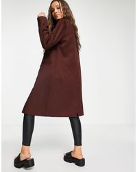 Object Llina Double Breasted Coat - Brown