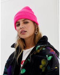 New Look Bonnet fluo - Rose