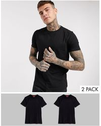 HUGO 2 Pack T-shirts - Black