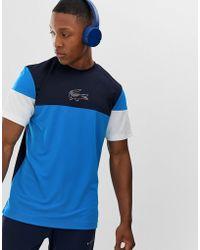 Lacoste Sport T-shirt blu colour block