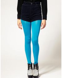 ASOS Asos 80 Denier Winter Turquoise Tights - Blue