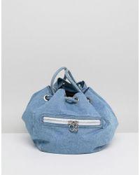 Gestuz Denim Grab Bag - Blue