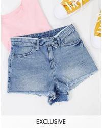 Collusion Pantalones cortos con detalle - Azul