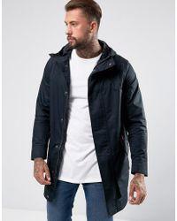 Hunter   Long Cotton Coat In Black   Lyst