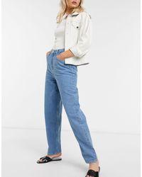 French Connection – reem – übergroße boyfriend-jeans - Blau