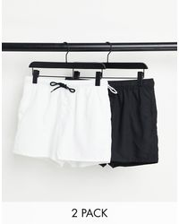 ASOS 2 Pack Swim Shorts - Black