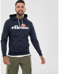 Ellesse Mens Overhead Gottero Hooded Sweatshirt Blue Size XL  NWT Cotton and...