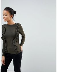 Fashion Union - Jumper With Frill Shoulders - Lyst