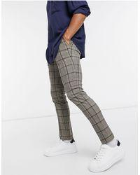 TOPMAN Skinny Smart Trousers - Brown