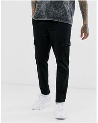 Another Influence Utility Cargo Trousers - Black
