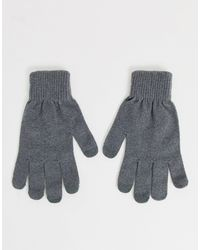 ASOS Touchscreen Gloves - Grey