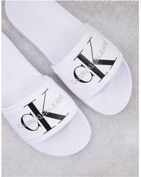 Calvin Klein Sandalias blancas viggo - Blanco