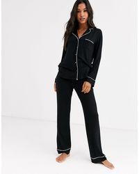 Lindex Eco Viscose Soft Pyjama Bottoms - Black