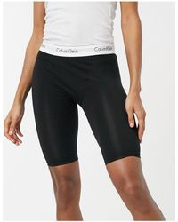 Calvin Klein – Moderne Shorts aus Baumwolle mit elastischem Logobund - Schwarz