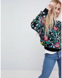 Pull&Bear | Knitted All Over Floral Jumper | Lyst