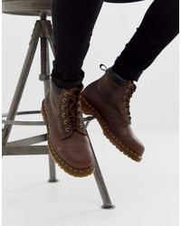 Dr. Martens 939 6 Eye Boots - Brown