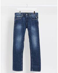 Replay – Grover – Gerade geschnittene Jeans - Blau