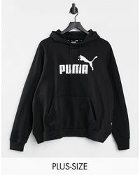 PUMA - Худи Черного Цвета Plus Essentials-черный Цвет - Lyst