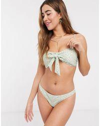 Y.A.S Bikini Top With Detachable Tie Straps - Multicolour