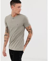 AllSaints Tonic Ramskull Logo T-shirt - Grey