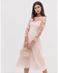 Coast - Odetta Embroidered Bridesmaid Midi Dress - Lyst