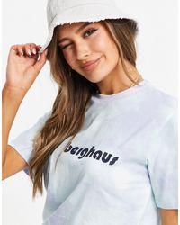 Berghaus Heritage - T-shirt viola effetto tie-dye con logo sul davanti