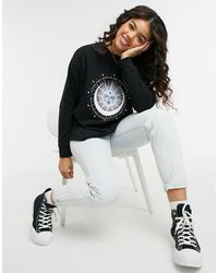 New Look Pastel Mystic Sweatshirt - Black