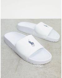 Polo Ralph Lauren Slider - White