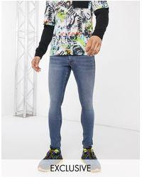 Collusion X001 - Jeans super skinny lavaggio blu medio