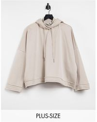Noisy May Hoodie With High Neck - Grey