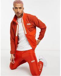 Columbia Красная Легкая Флисовая Куртка На Молнии Back Bowl-красный