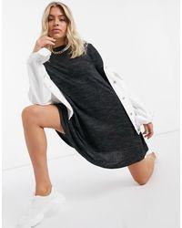 Brave Soul Jersey Swing Dress - Black