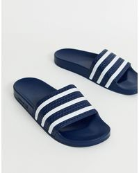 adidas Originals Темно-синие Шлепанцы Adilette-темно-синий