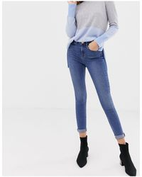 Oasis Mid-rise Skinny Jeans - Blue