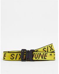 Sixth June Cintura con logo gialla - Giallo