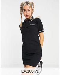 Collusion Polo Mini Dress - Black