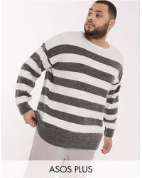 ASOS Plus Oversized Sweater With Scoop Neck - Black