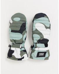 ASOS 4505 - Skiwanten Met Camouflageprinto - Lyst