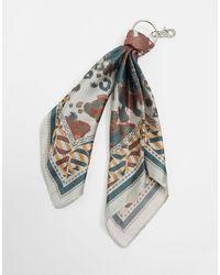 ASOS Llavero con diseño bandana con estampado animal - Negro