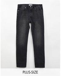 TOPMAN Big & Tall Straight Leg Jeans - Black