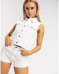 Calvin Klein Белый Джинсовый Жилет